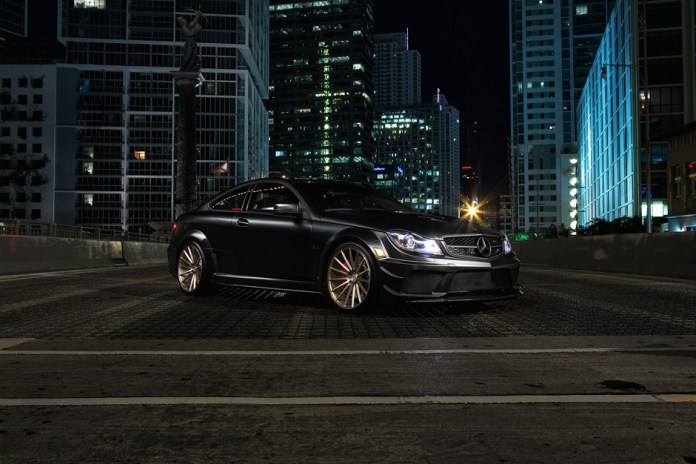The Vossen Precision Series Meets the Mercedes-Benz C63 AMG Black