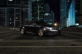 The Vossen Precision Series Meets the Mercedes-Benz C63 AMG Black