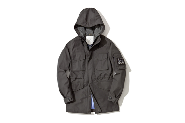 wingshorns x ace hotel x nanamica zip front hood parka