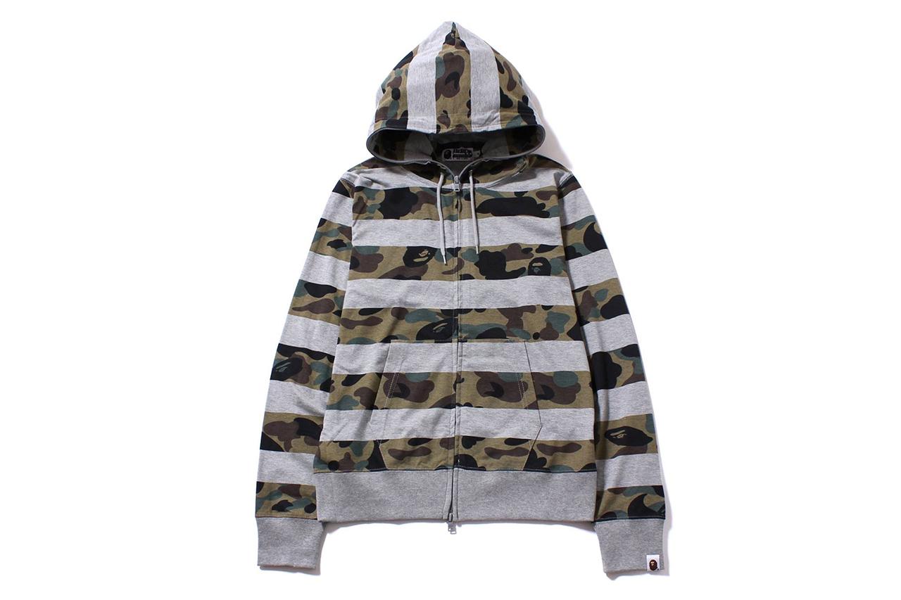 a bathing ape 1st camo hoop full zip hoodie