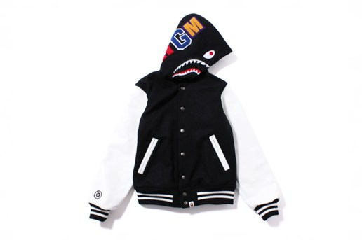 A Bathing Ape 2014 Spring SHARK VARSITY JACKET