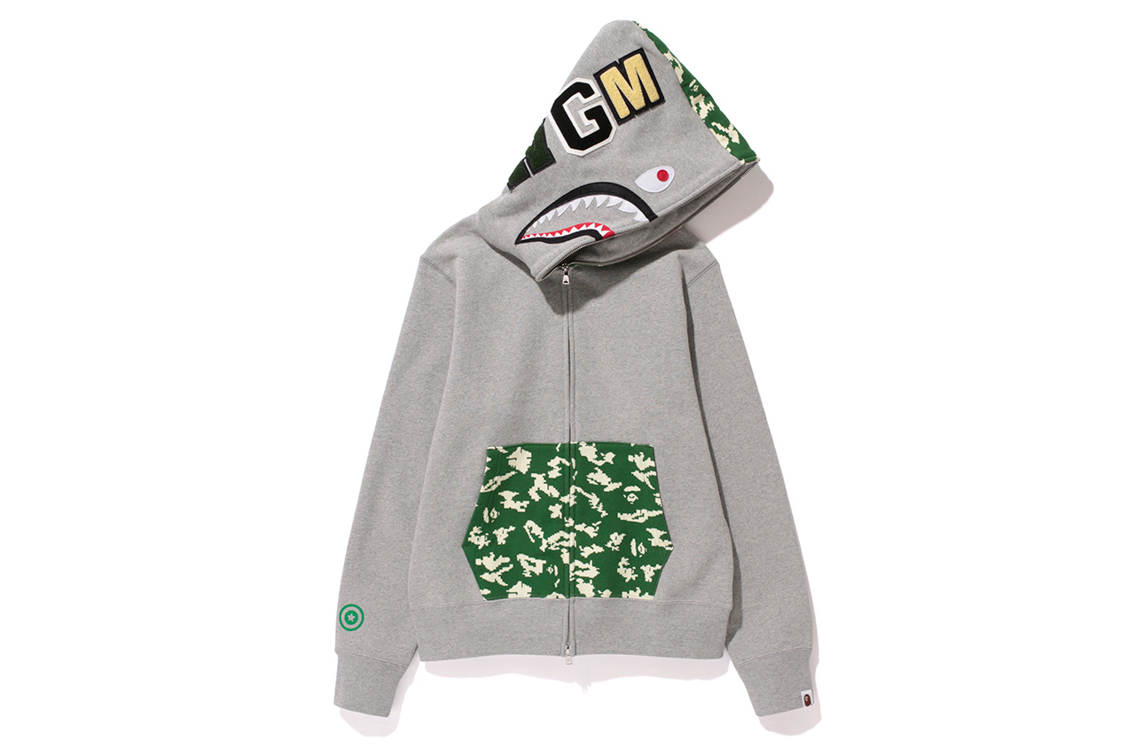A Bathing Ape NW20 SHARK FULL ZIP HOODIES