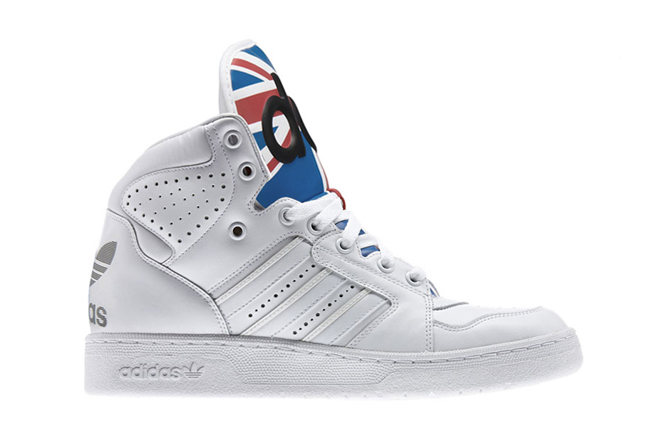 adidas Originals by Jeremy Scott Instinct High Union Jack White/Satellite/Light Scarlett