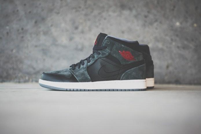 Air Jordan 1 Mid Black/Charcoal Suede