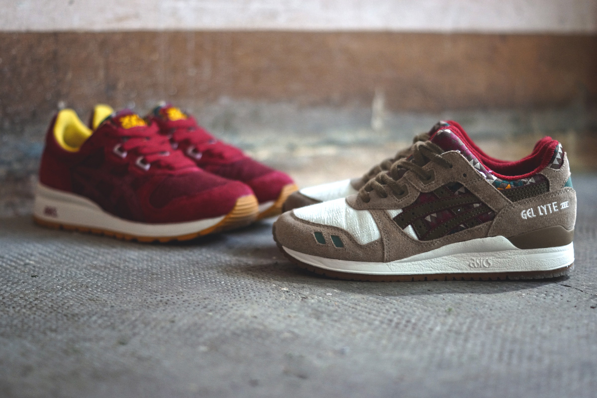 asics aztec gel lyte iii and gel epirus