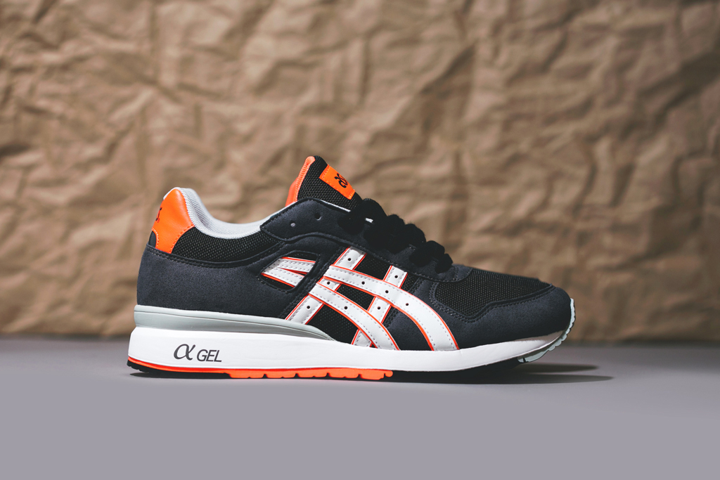 asics gt ii black bright orange