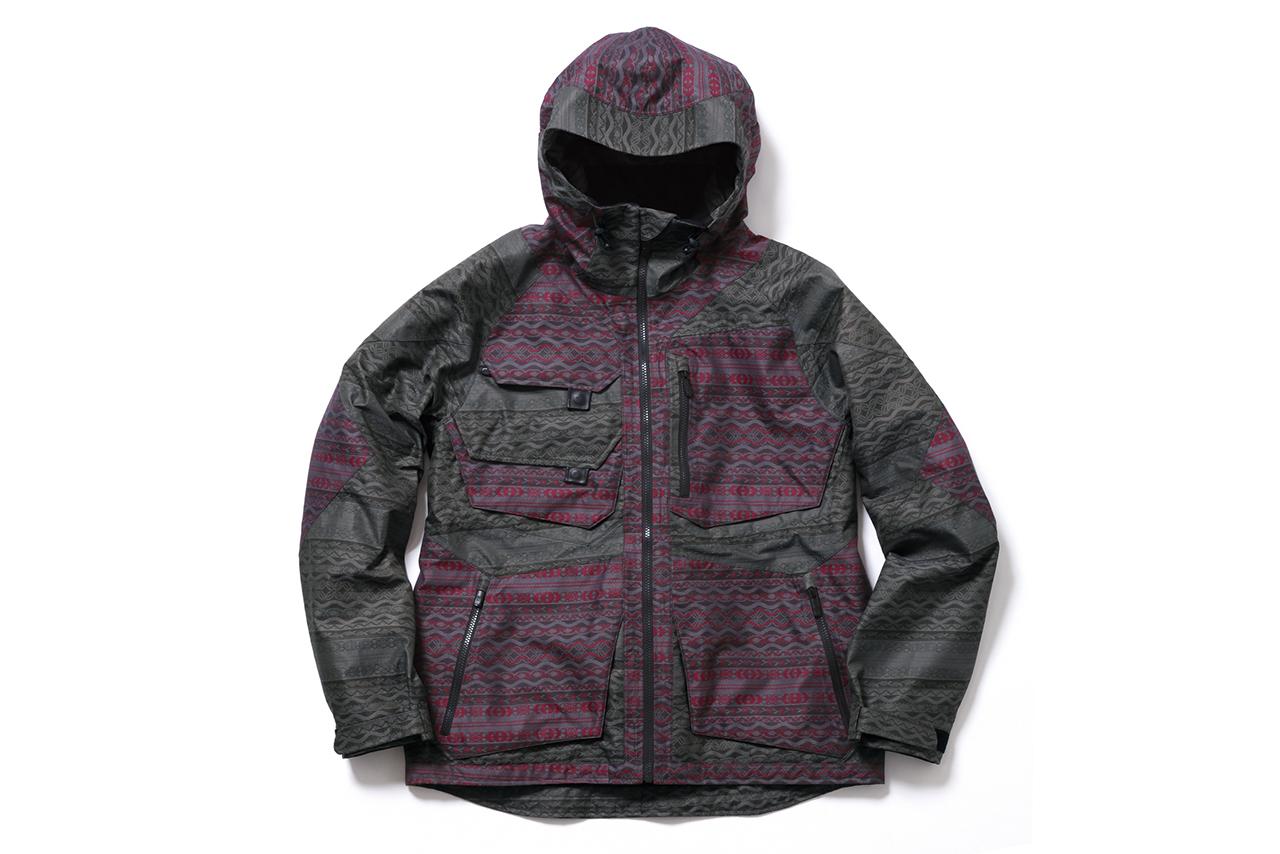 burton thirteen jacquard alces jacket