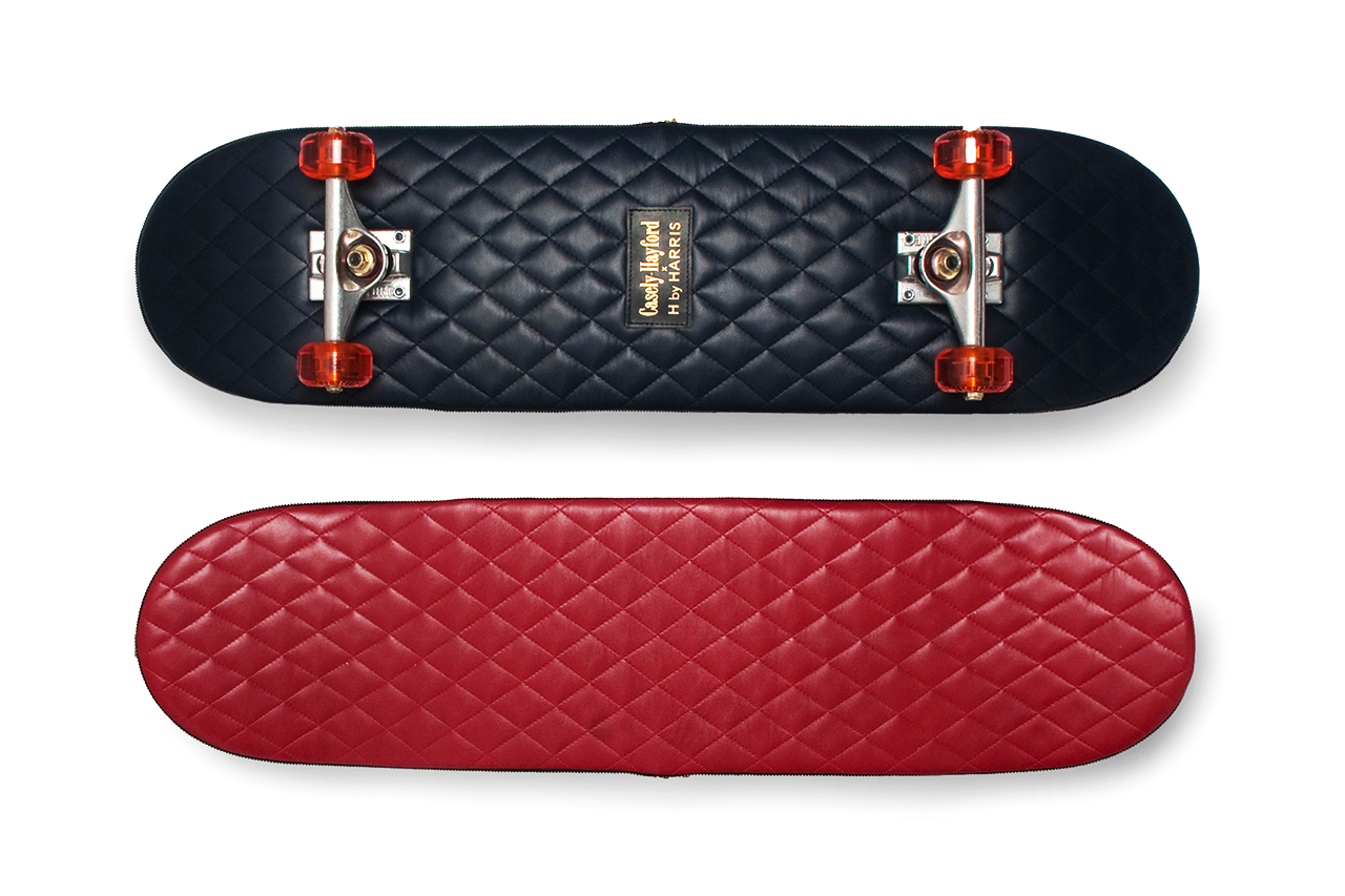 Casely-Hayford x H by Harris Quilted Leather Skateboards
