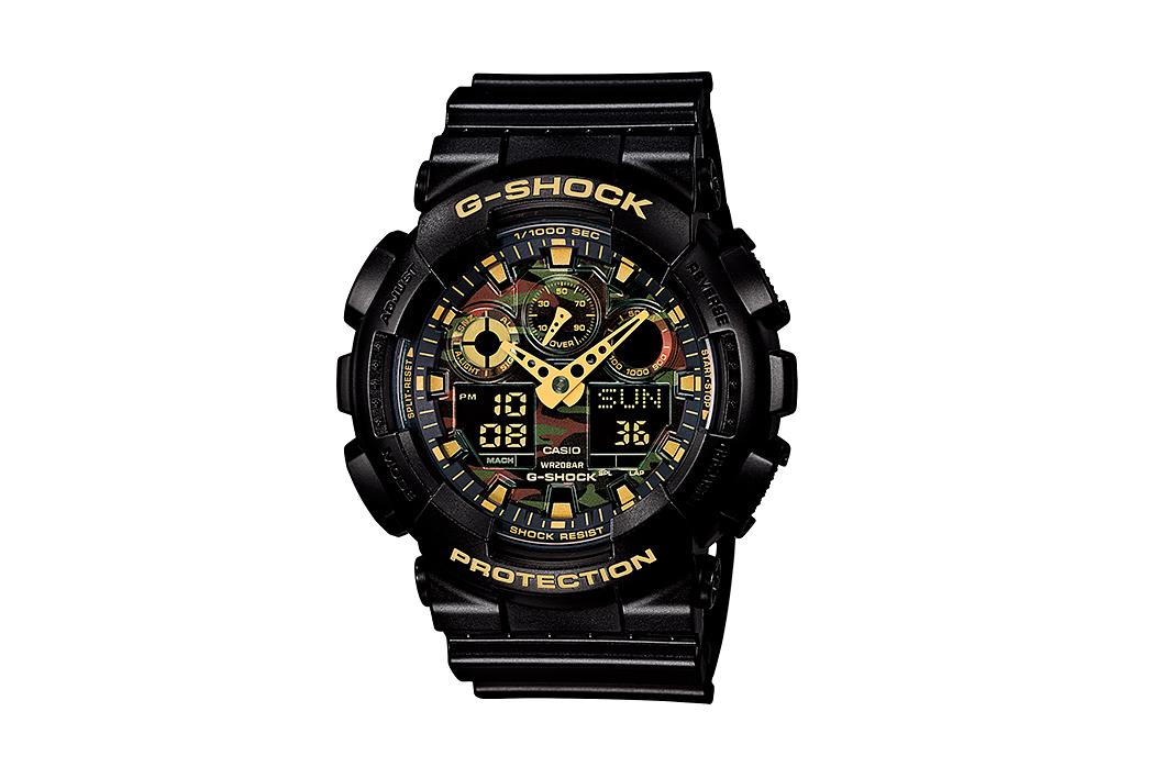 """Casio G-Shock GA-100CF """"Camo Dial"""" Collection"""