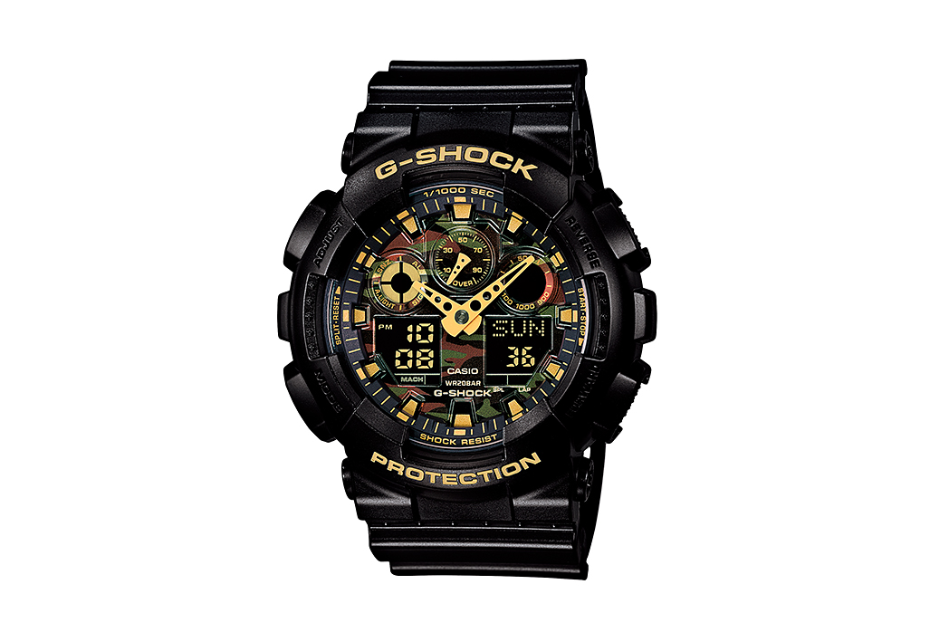 casio g shock ga 100cf camo dial collection