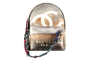 Chanel Printed Leather & Toile Backpack