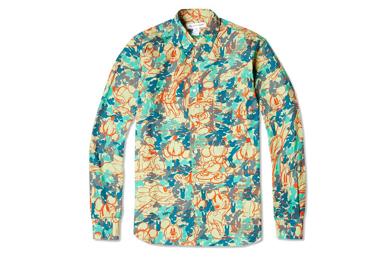 comme des garcons shirt 2014 spring summer disney camo capsule collection