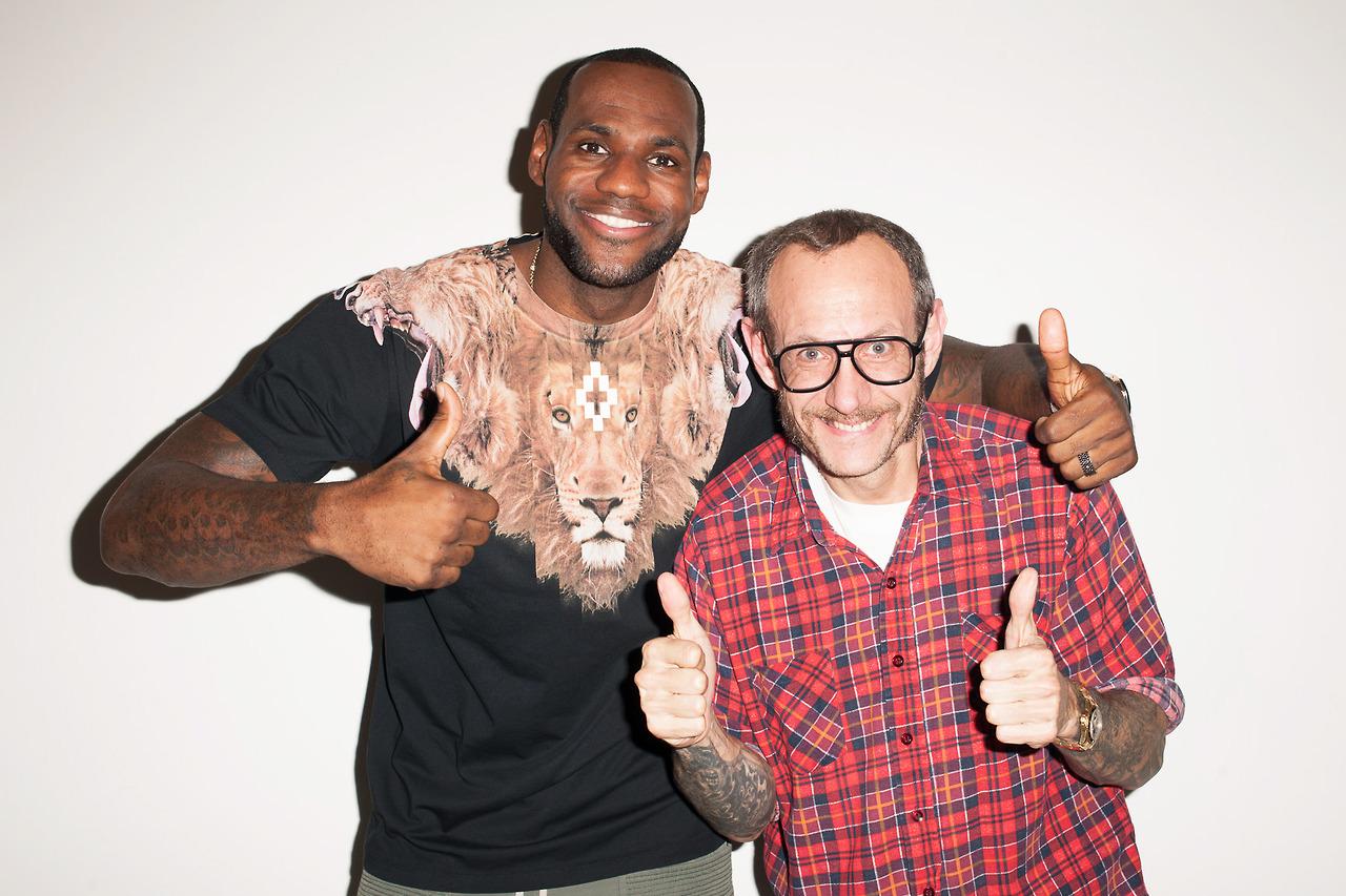 LeBron James Visits Terry Richardson's Studio
