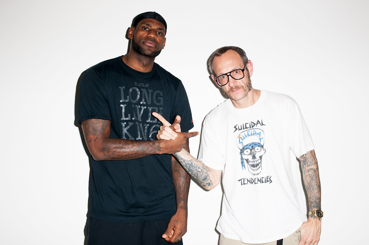 lebron james visits terry richardsons studio