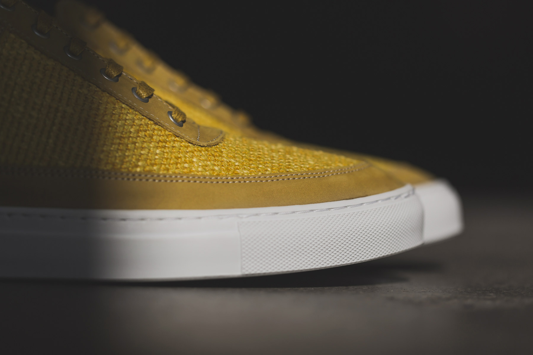 Filling Pieces 2014 Spring/Summer Yellow Carpet Textile/Nubuck Lowtop