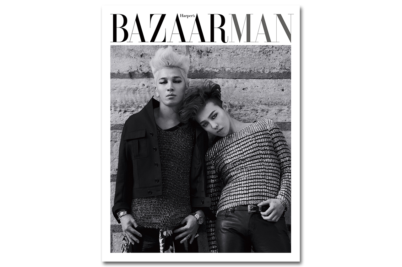 g dragon taeyang for harpers bazaar man