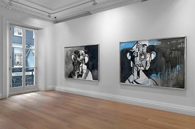 george condo ink drawings skarstedt gallery london
