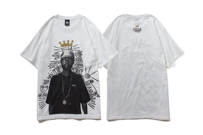 """J Dilla x Stussy 2014 """"TURN IT UP"""" T-Shirt"""