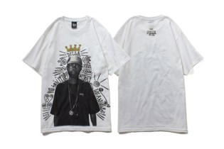"J Dilla x Stussy 2014 ""TURN IT UP"" T-Shirt"