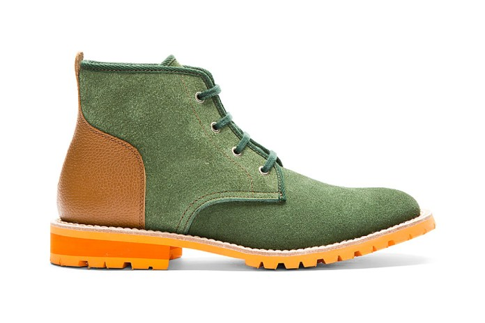 Junya Watanabe MAN Green & Cognac Lace-Up Boots