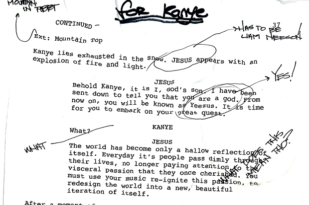 Is This the First Look at the 'Yeezus' Script from Bret Easton Ellis?