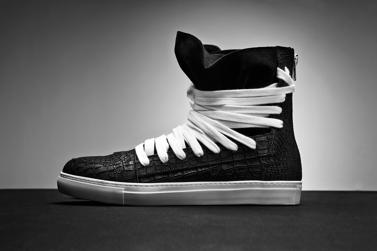 KRISVANASSCHE 2014 Spring/Summer Multi-Lace Hightop Sneakers