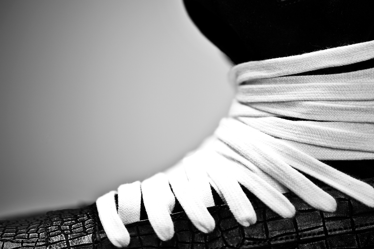 KRISVANASSCHE 2014 Spring/Summer Multi-Lace Hightop Sneakers