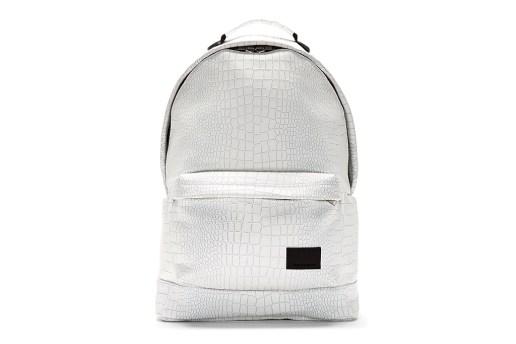 KRISVANASSCHE White Etched Croc Pattern Backpack