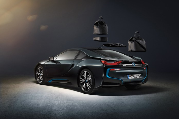 Louis Vuitton's Custom Carbon Fiber Luggage for the BMW i8