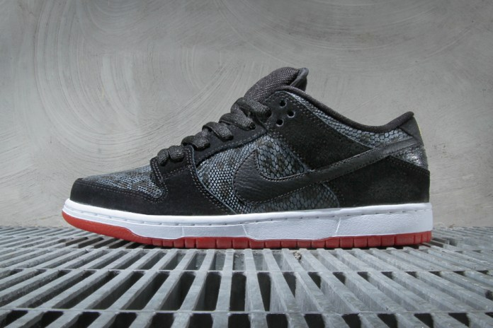 Nike SB Dunk Low Premium Black/University Red-Metallic Gold