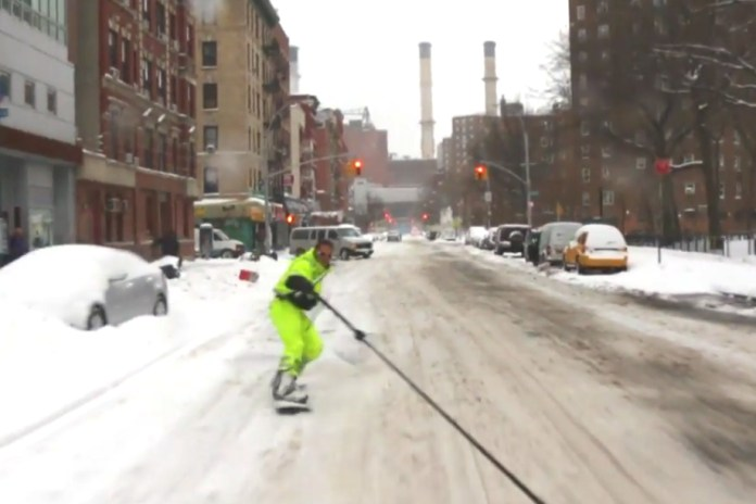 Snowboarding the Streets of New York with Casey Neistat