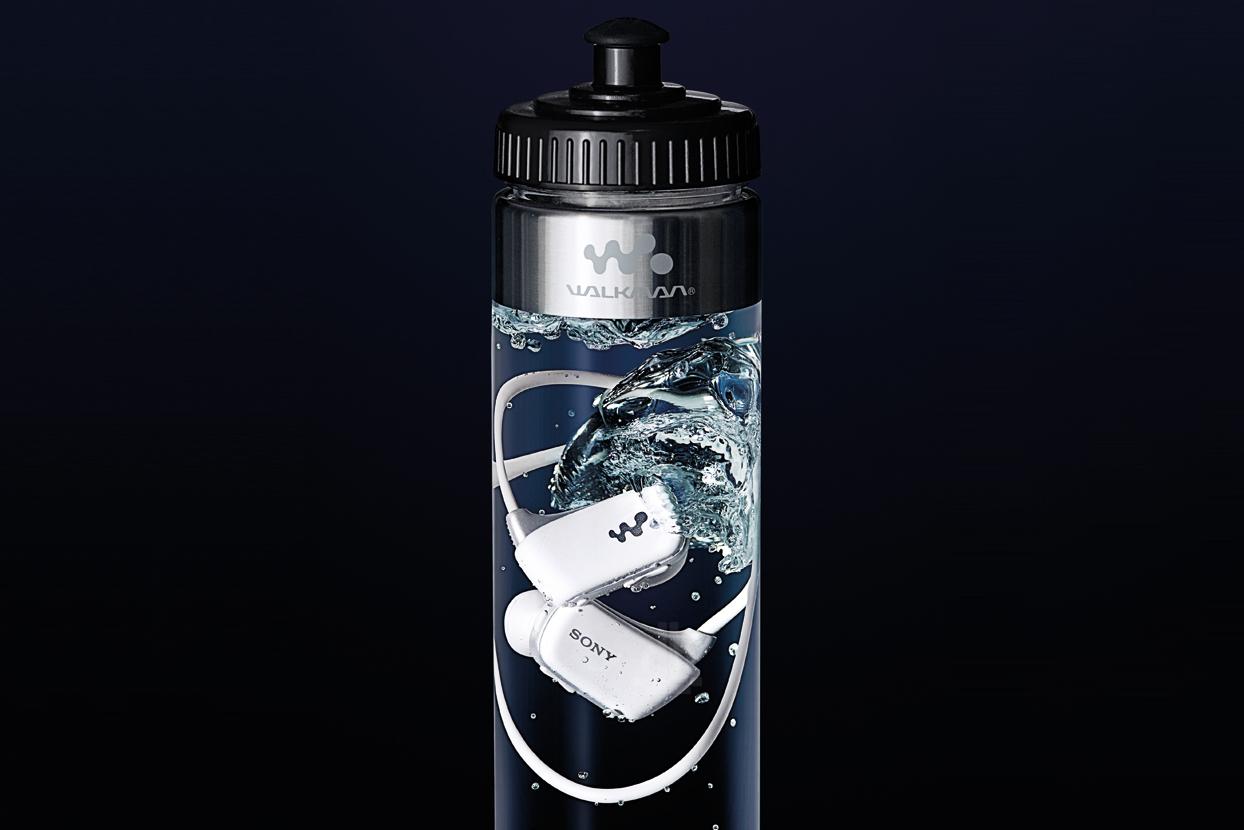 Sony Sells Waterproof Walkman in Bottles of Water