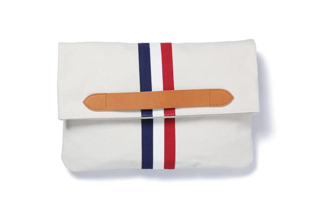 sophnet 2014 spring summer stripe clutch bag