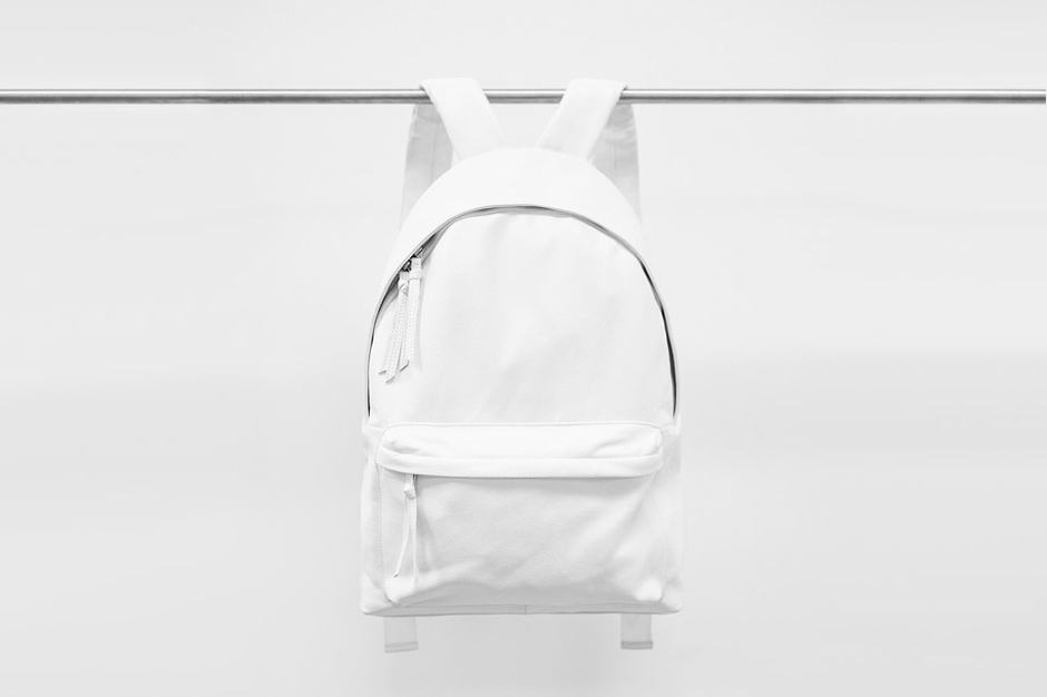 Stampd White Leather Backpack