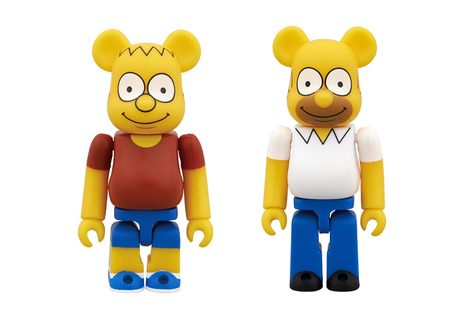 The Simpsons x Medicom Toy Bart & Homer Simpson Bearbricks
