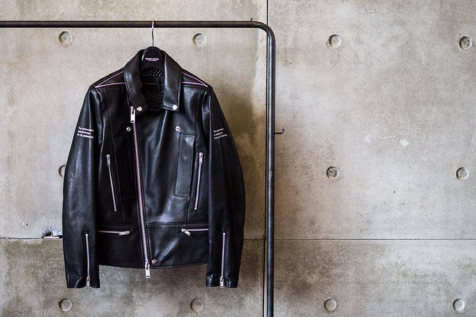 "UNDERCOVER ""PSYCHOCANDY"" Leather Biker Jacket"