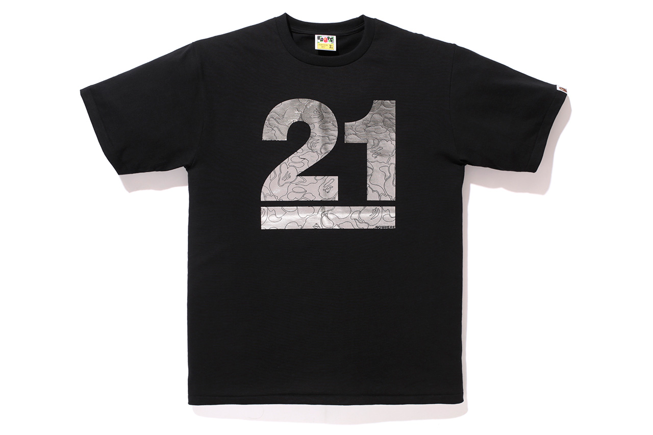 a bathing ape 21 years tee