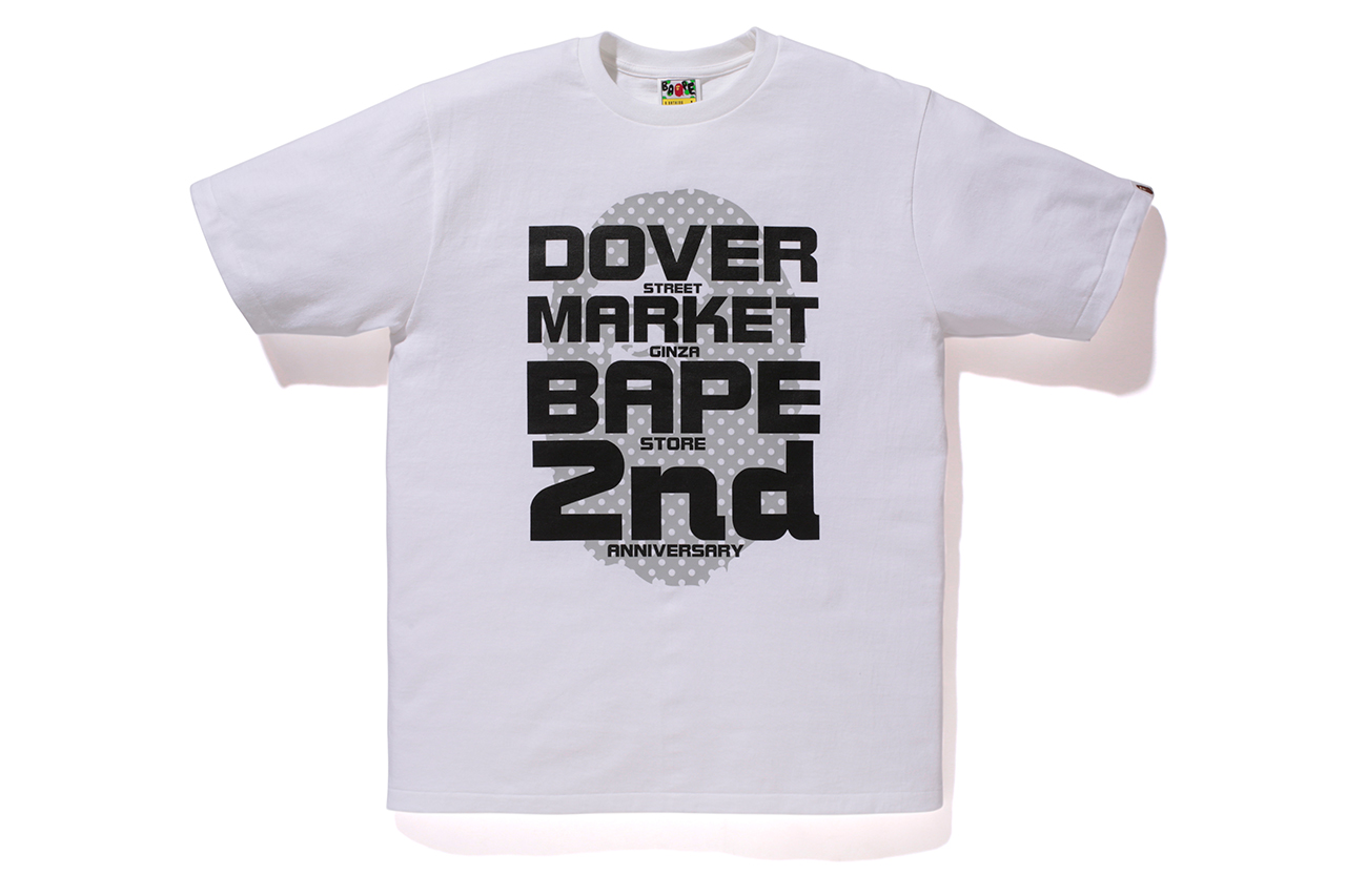 """A Bathing Ape """"DOVER STREET MARKET GINZA 2nd Anniversary"""" T-Shirts"""