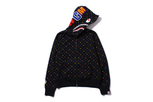 A Bathing Ape SHARK MULTI DOT FULL ZIP HOODIE