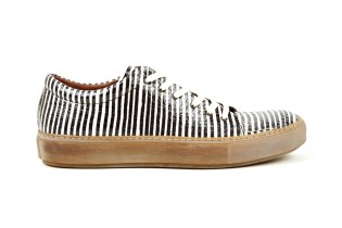Acne Studios Adrian Snake Sneakers Black/White