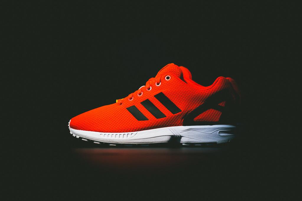 adidas originals zx flux infrared infrared run white