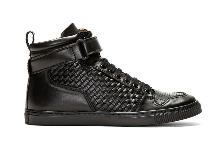 AMI Woven Leather High-Tops