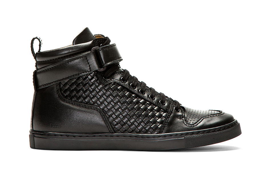 ami woven leather high tops