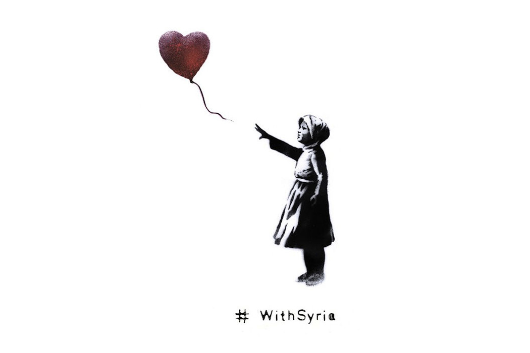 banksy teams up with world organizations for withsyria campaign