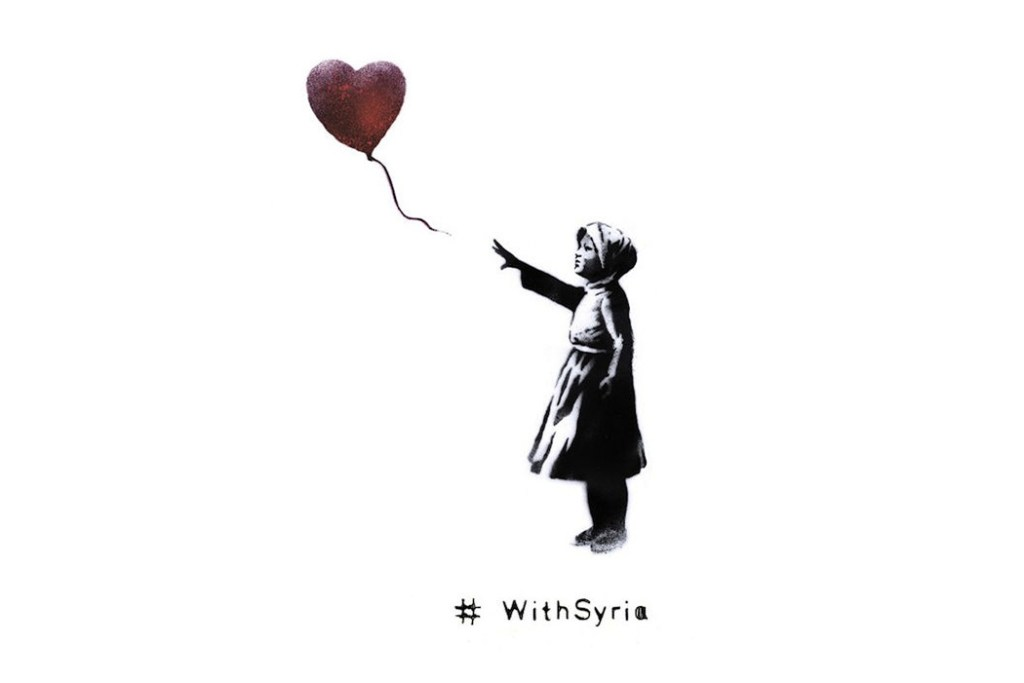 Banksy Teams Up with World Organizations for #WithSyria Campaign