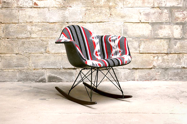 Beam & Anchor's Custom Pendleton Eames Rocking Chair