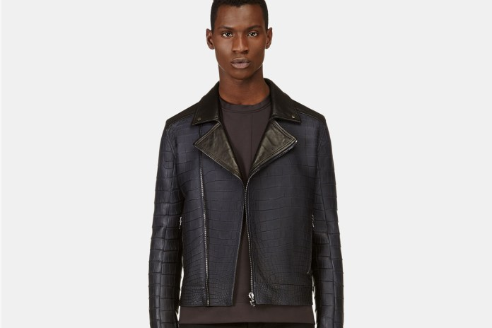 Calvin Klein's $70,000 USD Alligator Biker Jacket for SSENSE