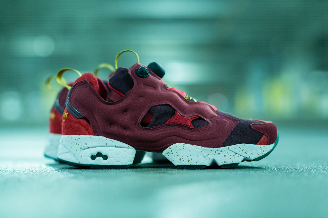 """A Closer Look at the End x Reebok Instapump Fury 20th Anniversary """"Claret"""""""