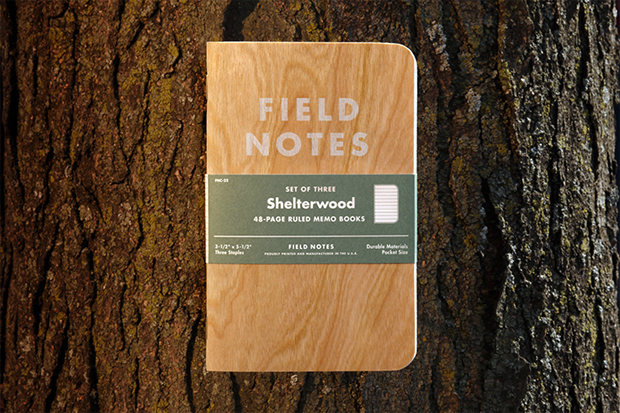 field notes shelterwood edition made from real wood