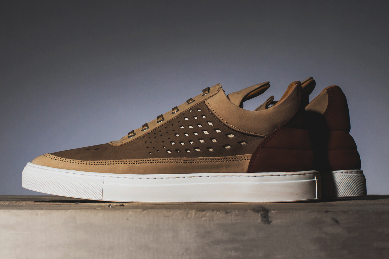 filling pieces 2014 spring summer low top gradient pattern perforated sneakers